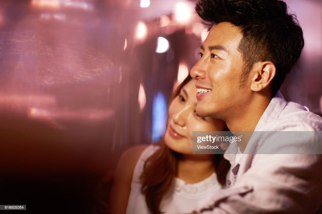 Night life for young couples : Stock Photo