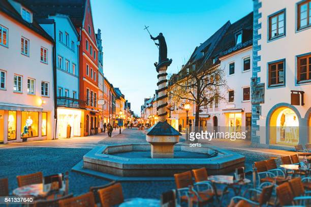 Night Life in Old Town Fussen, Bavaria, Germany