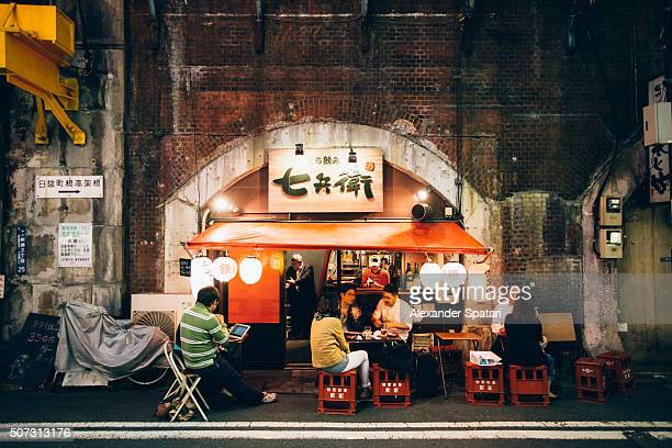 night life in shinbashi district, tokyo, japan - speakeasy stock pictures, royalty-free photos & images