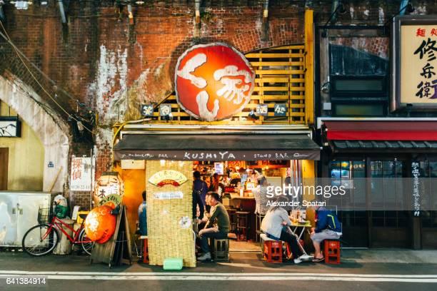 Night life in Shinbashi district, Tokyo, Japan