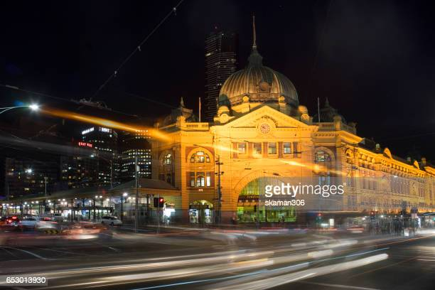 night light and landscape of Chruch of melbourne city in the night times