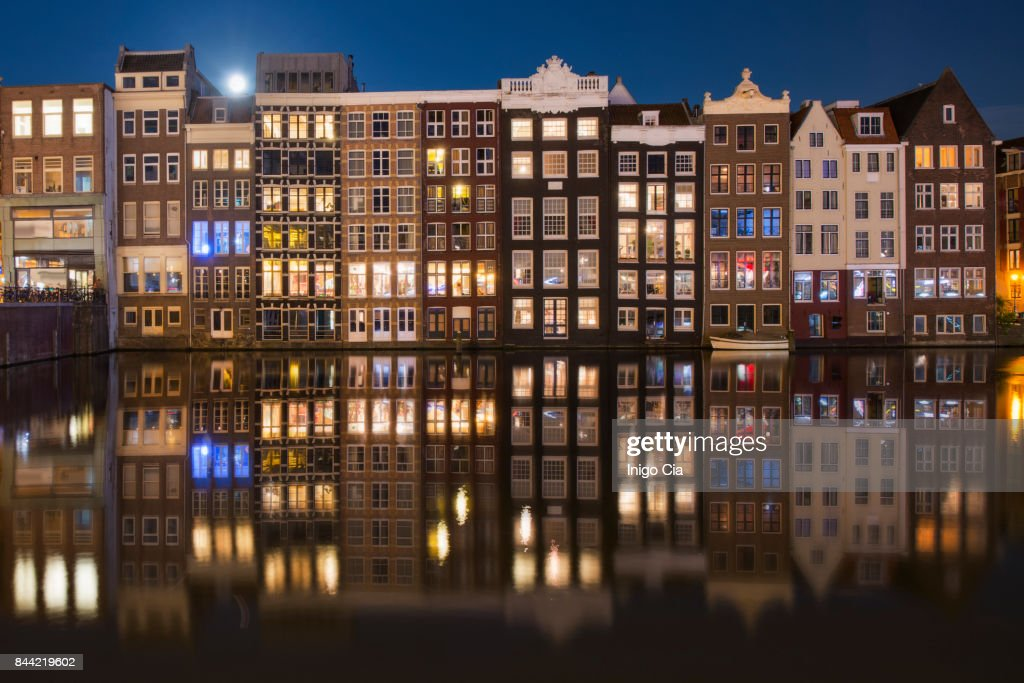 Night lights in the port : Stock Photo