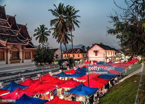Night market in Luang Prabang, Laos, Asia