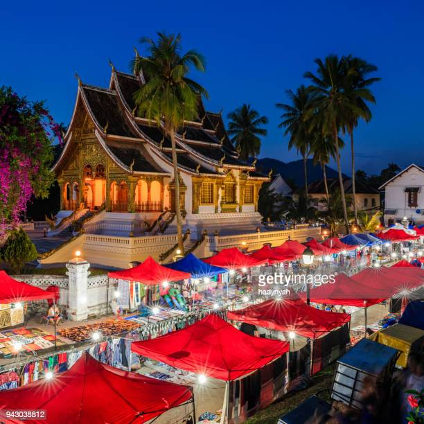 Avondmarkt in Luang Prabang, Laos