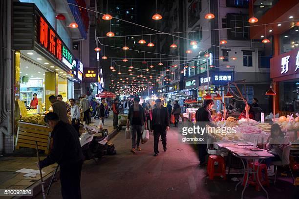 Night market in ShuiWei, Shenzhen, China