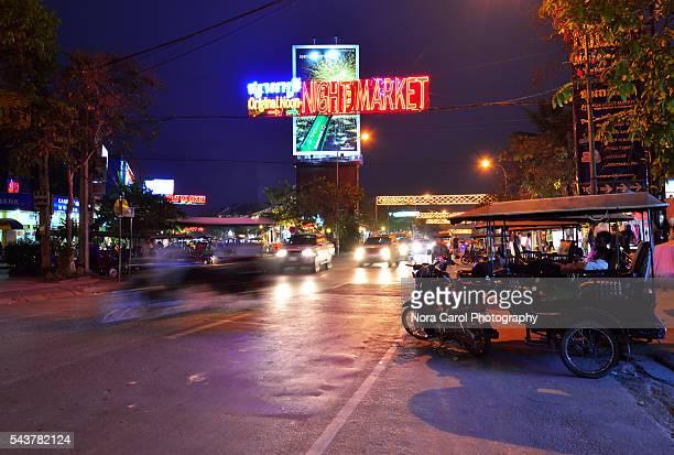 Night market in Siem Reap.