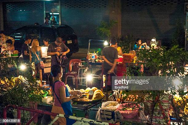 Night Market Near Khao San Road In Bangkok, Thailand