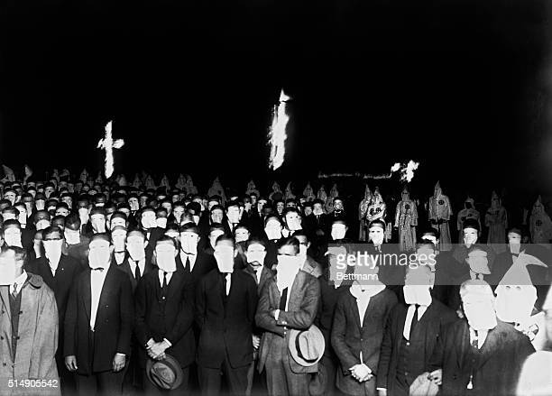 A night meeting of the Ku Klux Klan in Freeport Long Island Undated photograph