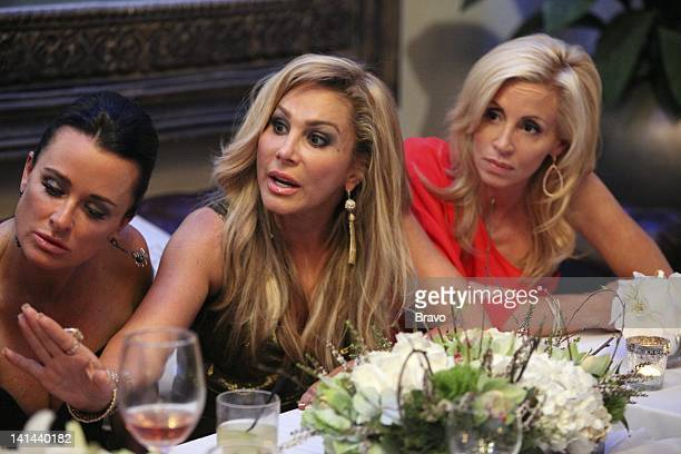 HILLS Night of a Thousand Surprises Episode 219 Pictured Kyle Richards Adrienne Maloof Camille Grammer Photo by Evans Vestal Ward/Bravo/NBCU Photo...