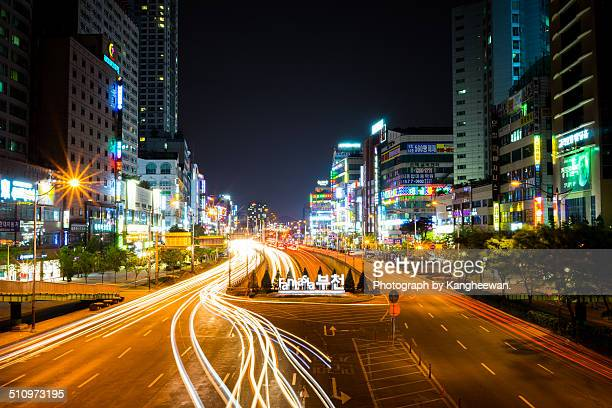 night of city - bucheon stock pictures, royalty-free photos & images