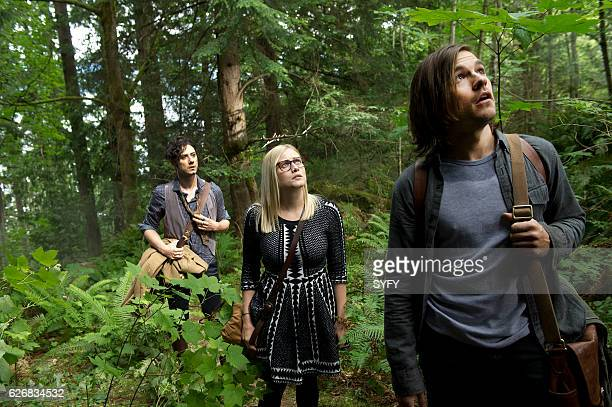 THE MAGICIANS Night of Crowns Episode 201 Pictured Hale Appleman as Eliot Olivia Taylor Dudley as Alice Jason Ralph as Quentin