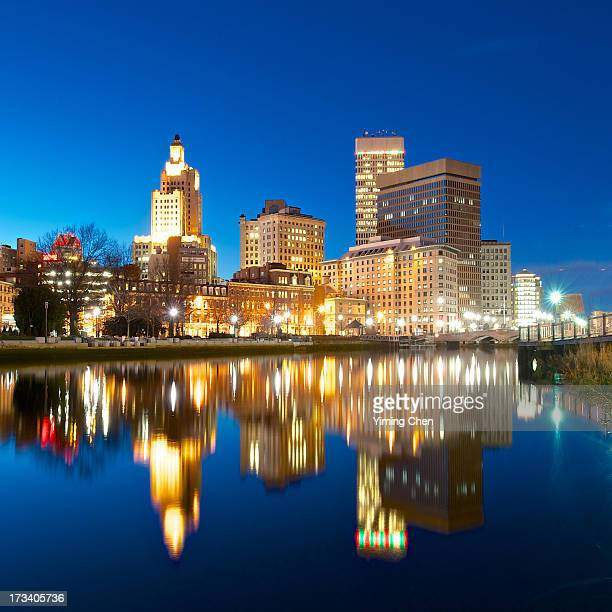 night of providence - providence rhode island stock photos and pictures