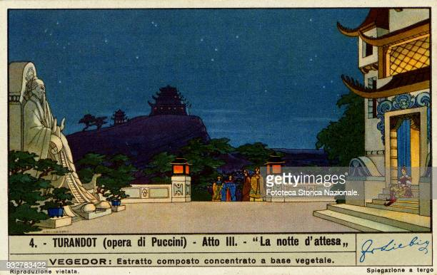 'Night of waiting' from the third act of the opera by Giacomo Puccini on libretto by Giuseppe Adami e Renato Simoni. The Puccini opera was given for...