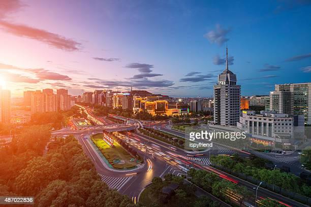 Noite em Pequim, China Paisagens urbanas