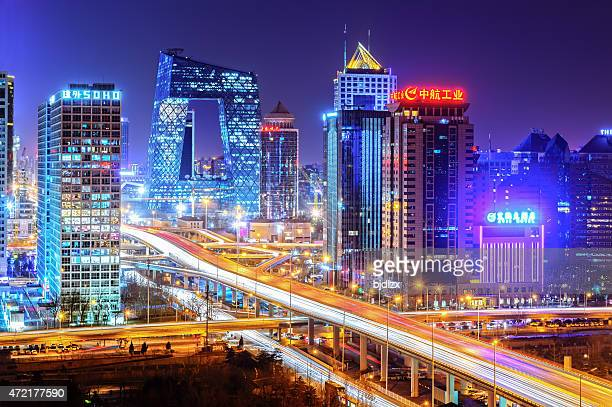 night on beijing - beijing province stock photos and pictures