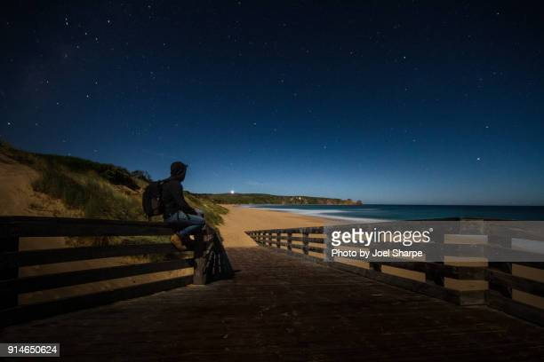 a night on the beach - phillip island stock pictures, royalty-free photos & images
