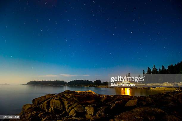 night on the island - maine stock pictures, royalty-free photos & images