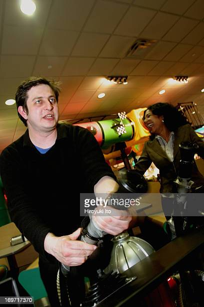 A night out with the comedian Eugene Mirman at Chuck E Cheese in downtown Brooklyn on Thursday night December 2 2004This image from leftEugene Mirman...