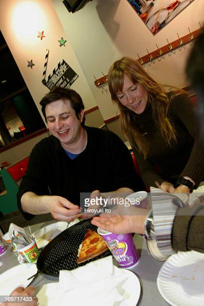 A night out with the comedian Eugene Mirman at Chuck E Cheese in downtown Brooklyn on Thursday night December 2 2004This imageHeather Lawless right...