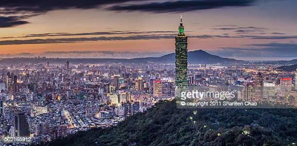 Night Panorama of Taipei 101