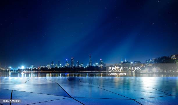 night parking lot - night stock pictures, royalty-free photos & images