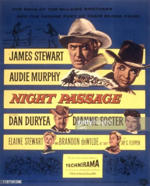 Night Passage poster James Stewart Audie Murphy Dan Duryea Dianne Foster Elaine Stewart Brandon De Wilde 1957