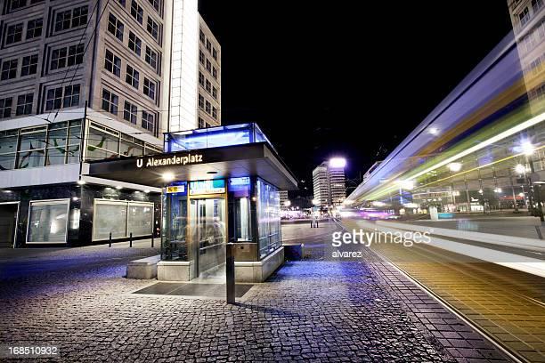 Night picture of alexanderplatz