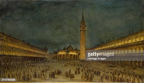 A Night Procession in the Piazza San Marco circa 1755 Artist Francesco Guardi