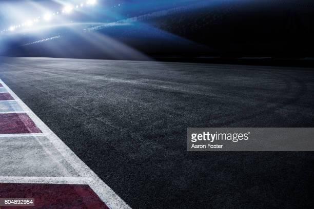 night race track - pista sportiva foto e immagini stock