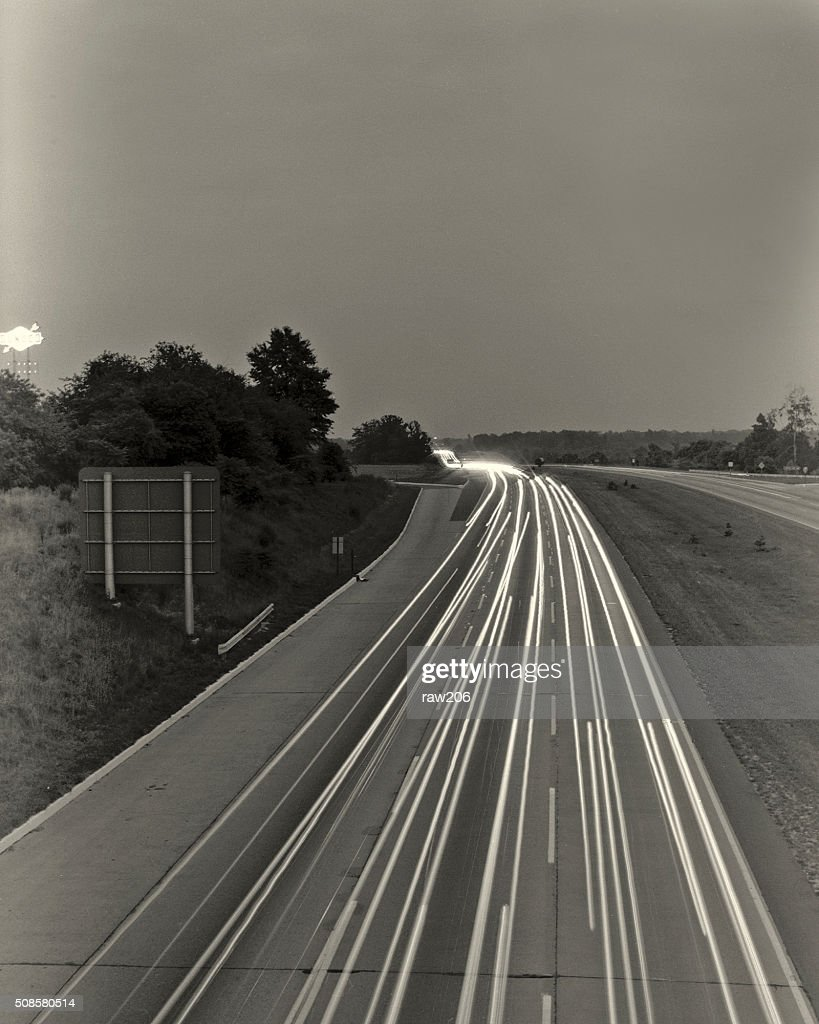 Night Road Traffic. : Stock Photo