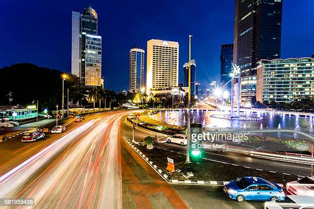 Night rush in Jakarta business district