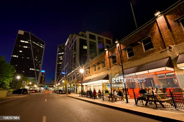 night scene from downtown regina - saskatchewan stock pictures, royalty-free photos & images