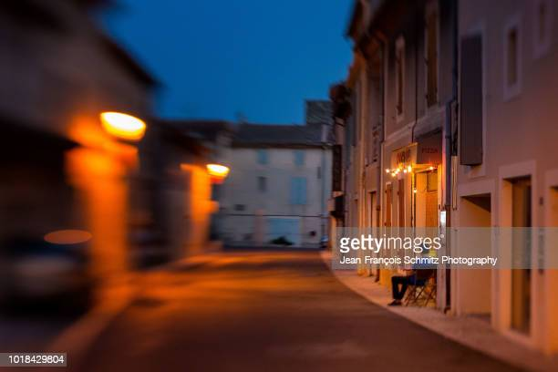 night scene in graveson, provence, july 2012 - united_states_senate_election_in_virginia,_2012 stock pictures, royalty-free photos & images