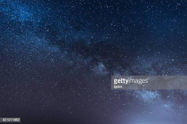 night scene milky way background - backgrounds stock pictures, royalty-free photos & images
