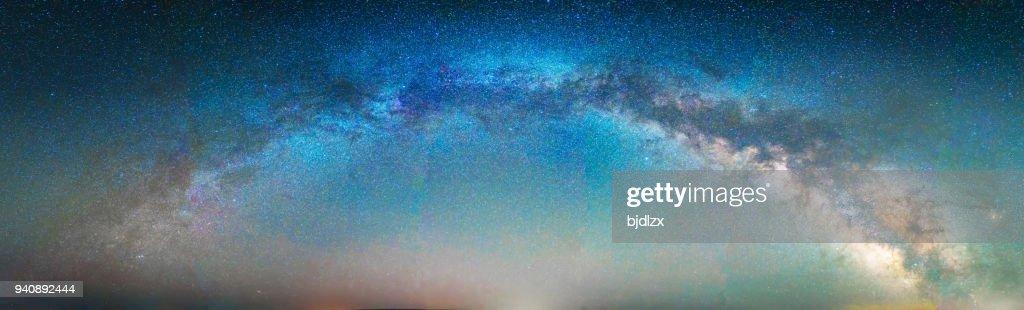 night scene milky way background : Stock Photo