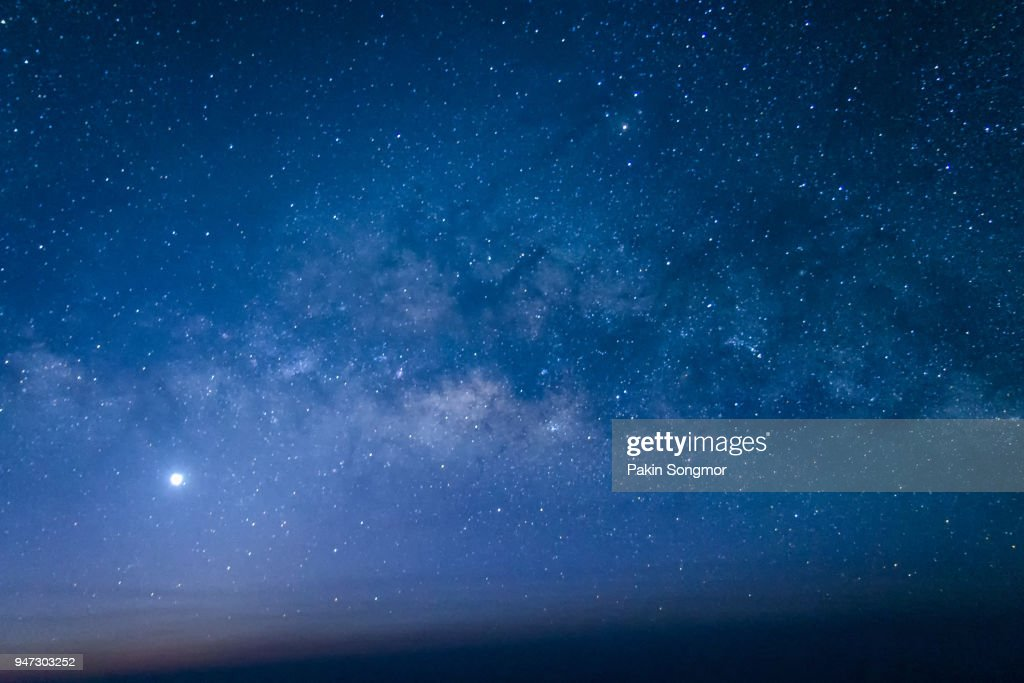 Night scene milky way background : Stock Photo