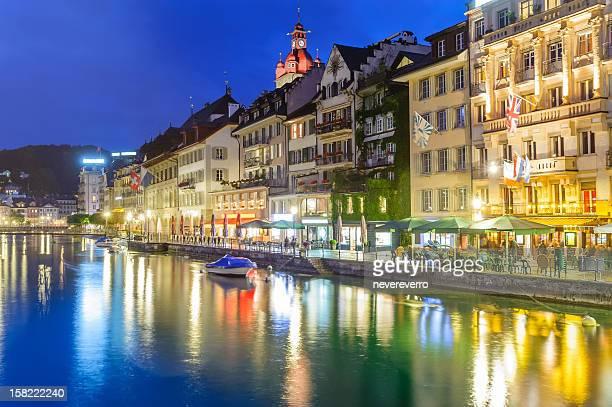 Nacht Szene von Luzern/Luzern, Schweiz