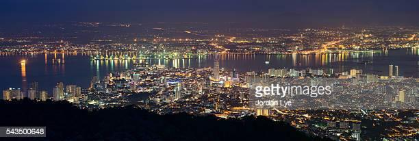 Night scene of Penang Hill