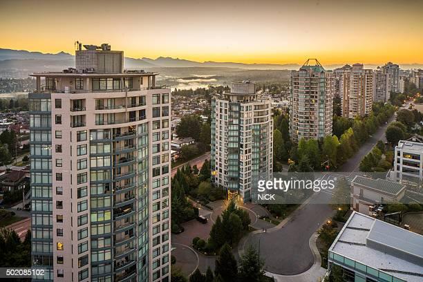 night scene of Vancouver