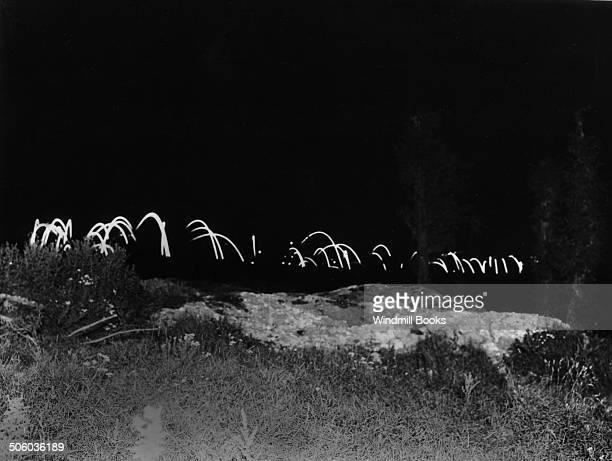 Night scene on the Battlefield at La Boiselle September 1916 British Front France '16 General Battle Somme