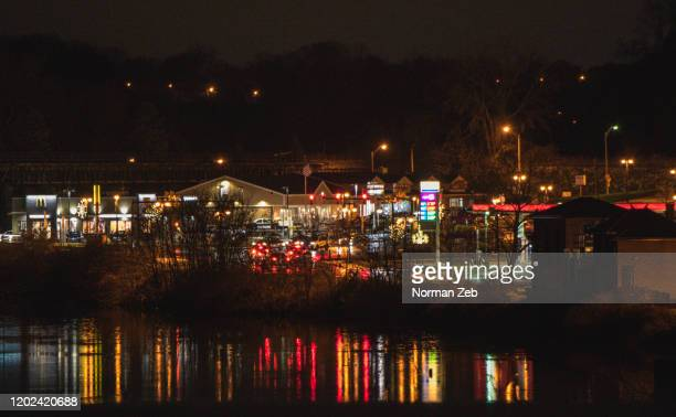 night scene, river - maryland us state stock pictures, royalty-free photos & images