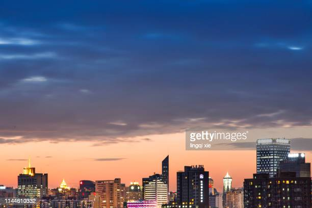 night scenery of hangzhou, china under the moonlight night - nanjing road stock pictures, royalty-free photos & images