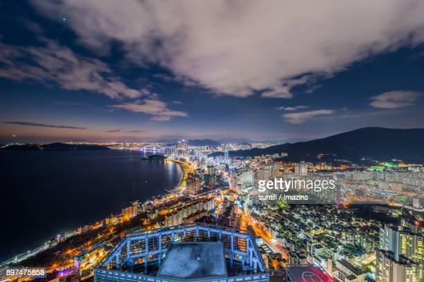 Night Scenery view of cityscape in Haeundae