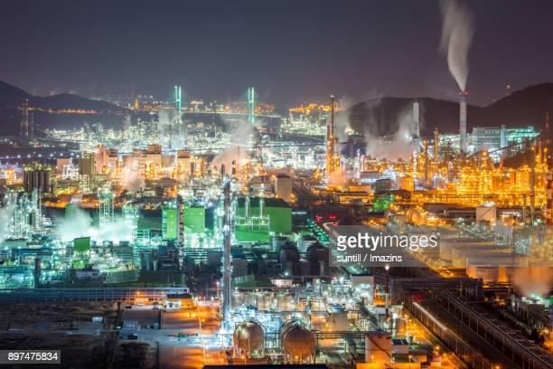 Night Scenery view of Yeosu Industrial Complex
