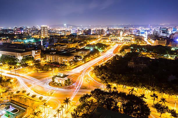 Night Scenes Of Taipei City Wall Art