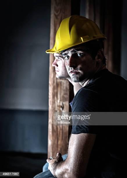 Night Shift Construction Workers Rest Break