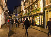 Night shopping at Christmas in York