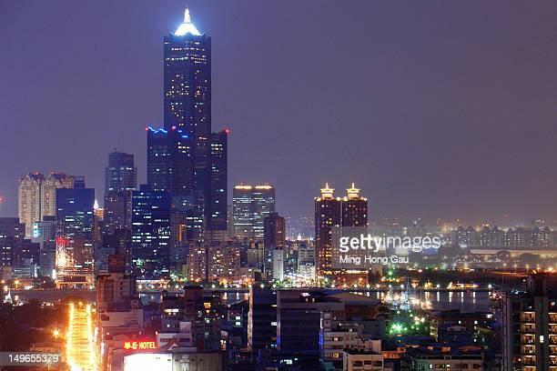 Night shot of downtown Kaohsiung