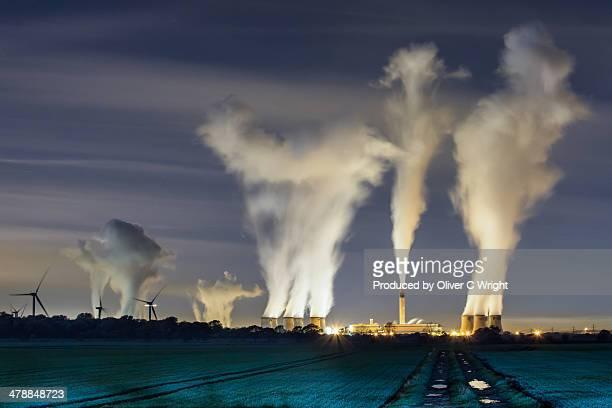 Night Shot of Drax Power Station