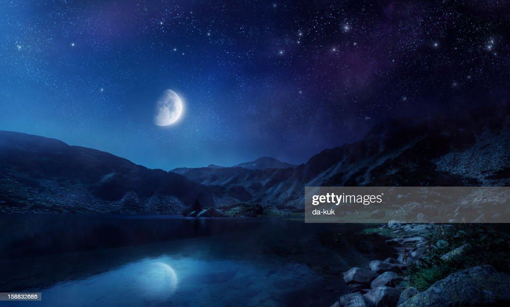 Night shot of lake : Stock Photo